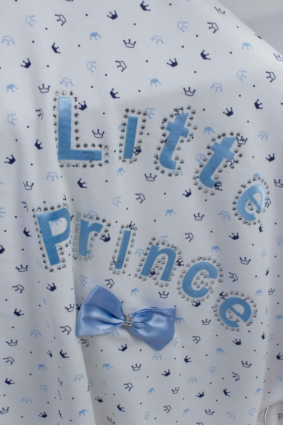 Blue Boy Baby Blanket Lıtte Prince Babies Newborn Cotton Ultra Soft Antibacterial Infants Boys Prince 80*85 Cm Blankets model