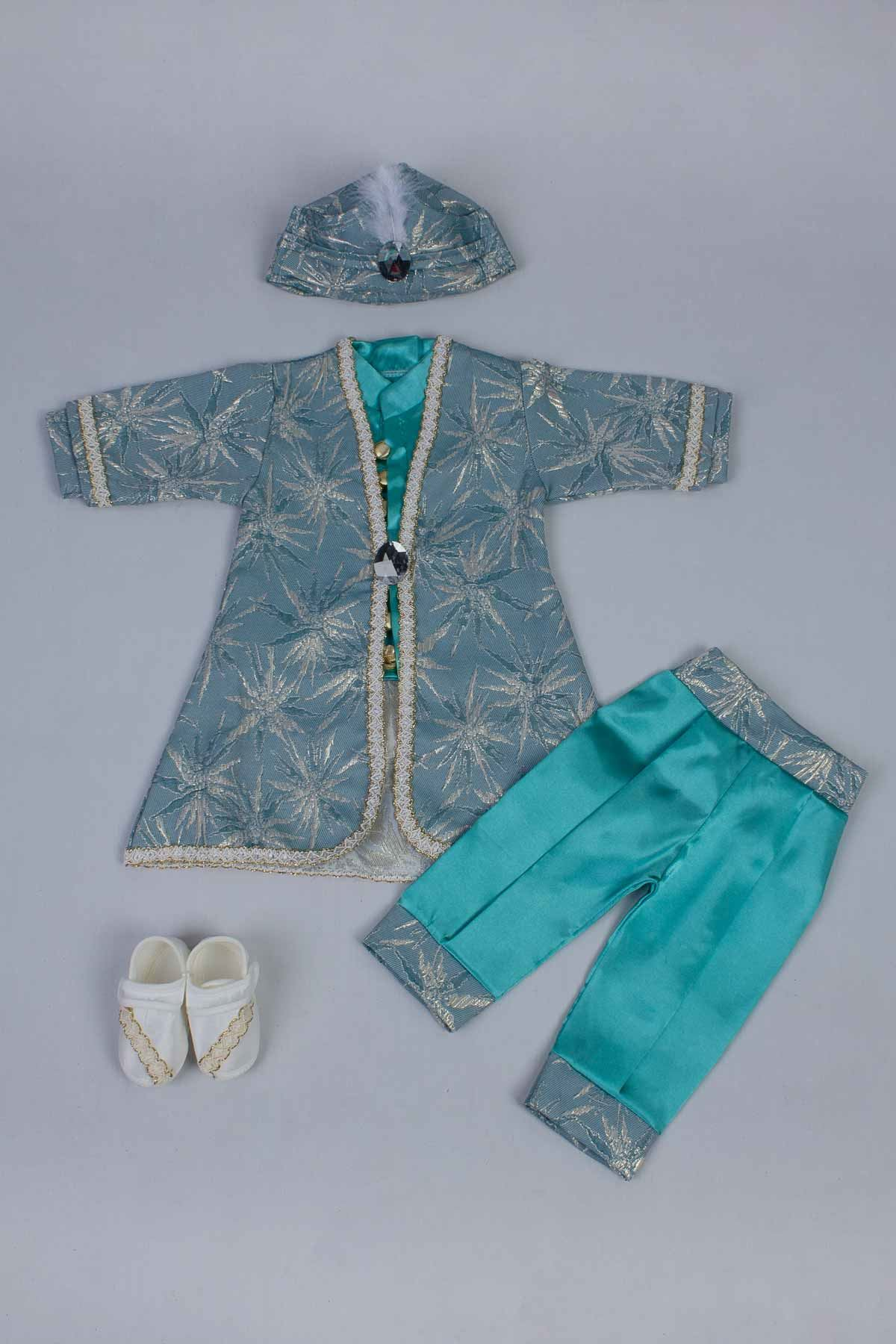 Green Baby Boy 5 pcs Prince Suit