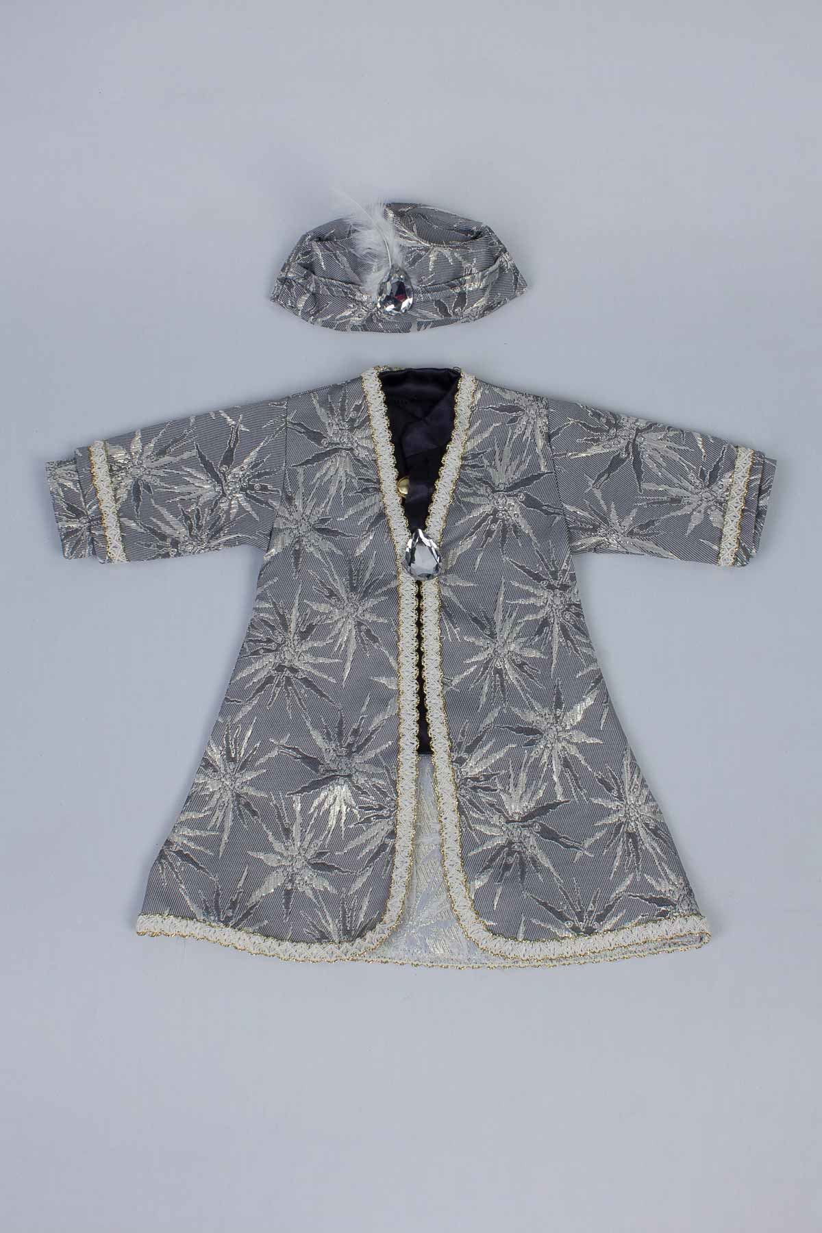 Gray Baby Boy 5 Pcs Prince Suit