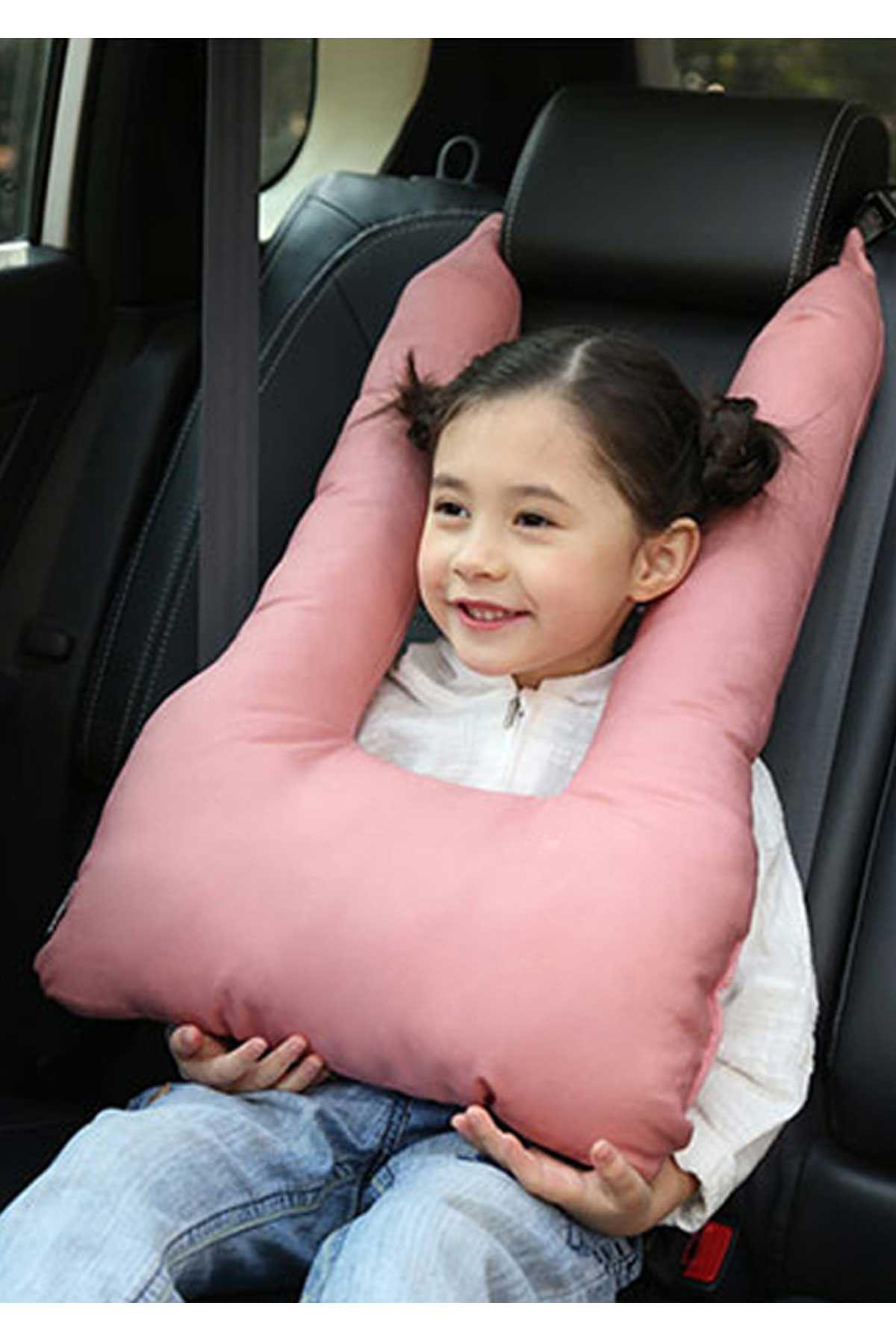 Pembe Bundera Pillow Çocuk Emniyet Kemer Yastığı Düzenleyici Oto Emniyet Kemeri Tutucu