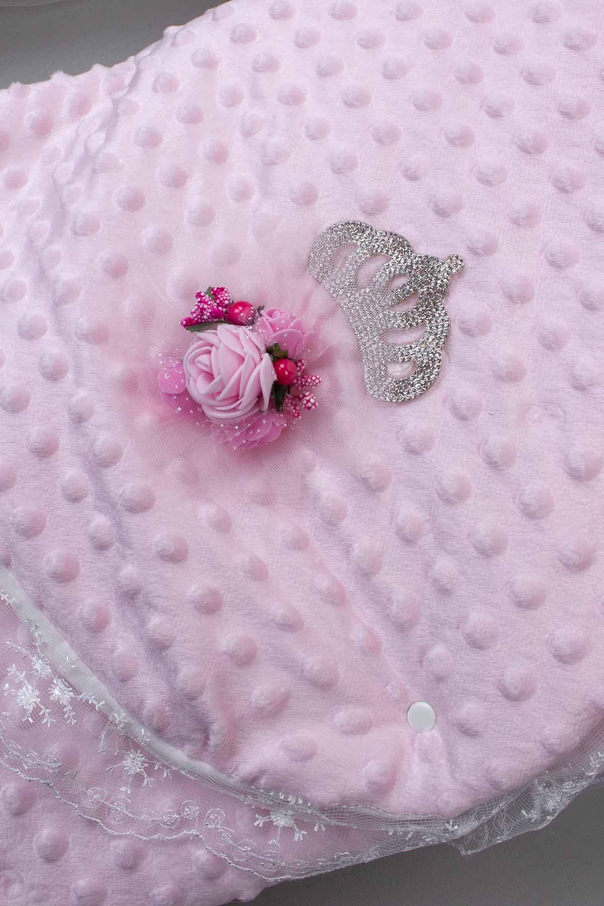 Pembe Prenses Taçlı Kız Bebek Nohut Kundak