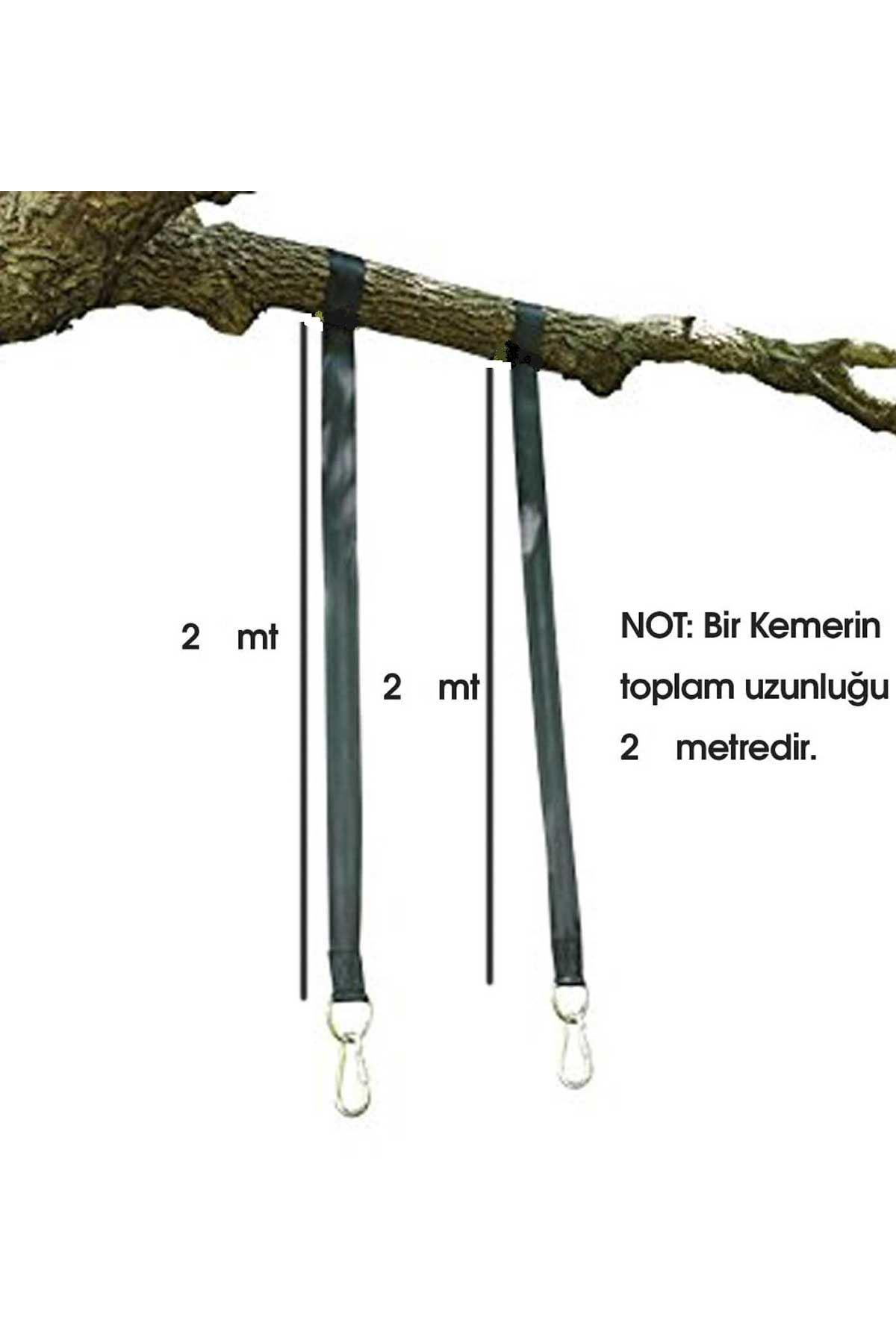 Siyah Bundera Rope Hamak Salıncak Taşıyıcı Asma Kemeri