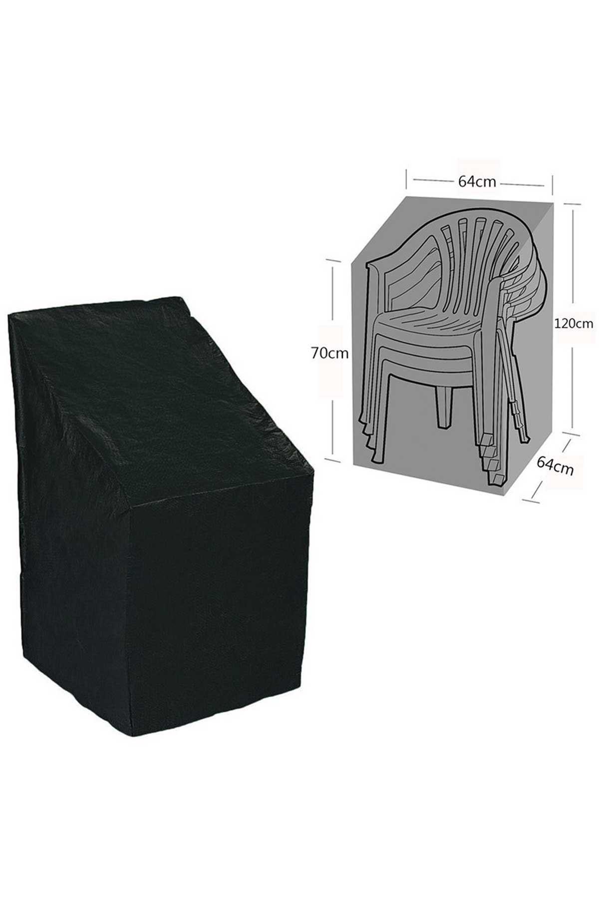 Siyah Bahçe Sandalye İstif Koruma Örtüsü